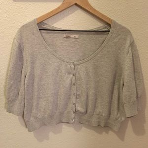 Old Navy- gray w/buttons, short sleeves